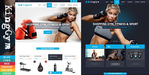 Kinggym - GYM Accessories HTML Template