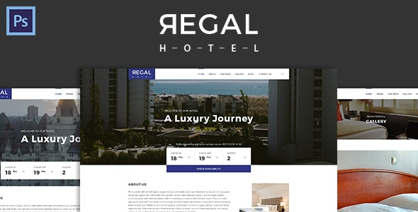 Regal - Hotel PSD Template - Travel Retail