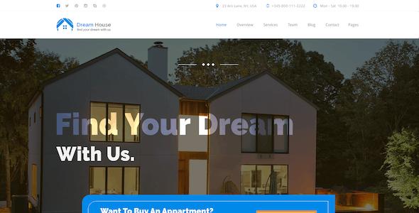 Dream House   Real estate PSD Theme
