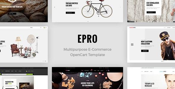 ePro - Premium OpenCart Template - OpenCart eCommerce