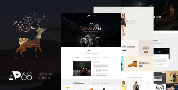 AP68 - Creative PSD Template - Creative Photoshop
