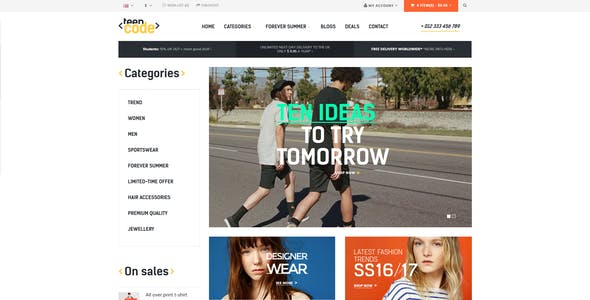 Pts TeenCode - Responsive Prestashop Theme For Fashion