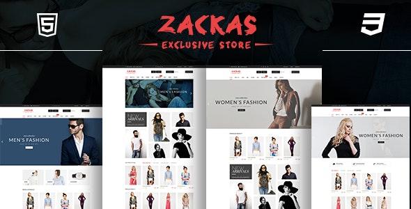 Zackas  - Fashion HTML Template - Fashion Retail
