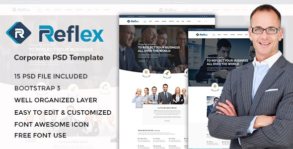 Reflex - Corporate PSD Template - Corporate Photoshop