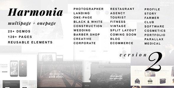 Harmonia - Creative Multi-Purpose WordPress Theme - Portfolio Creative
