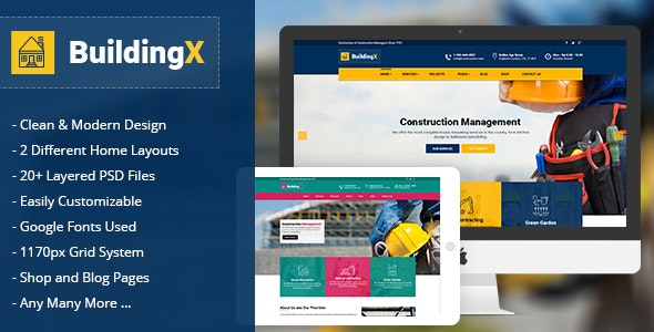 BuildingX - Builder, Contractor, Developer - Business Corporate