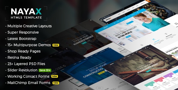 Nayax - Creative & Modern Multipurpose - Creative Site Templates