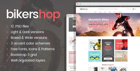 Biker Shop - premium PSD template - Retail Photoshop