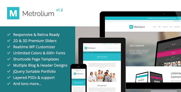 Metrolium - Responsive Multi-Purpose WP Theme - Business Corporate