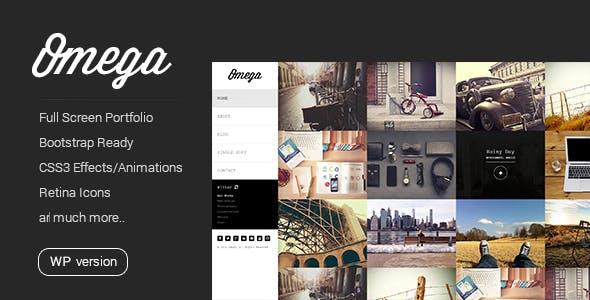 Omega - Minimal WordPress Theme