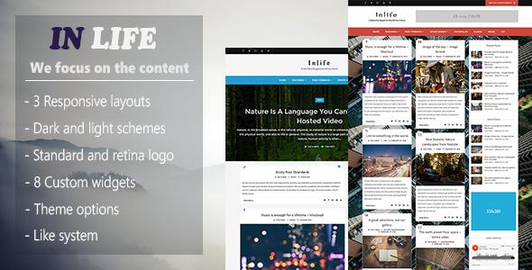 InLife - Simple & Flexible Blog/Magazine - Blog / Magazine WordPress