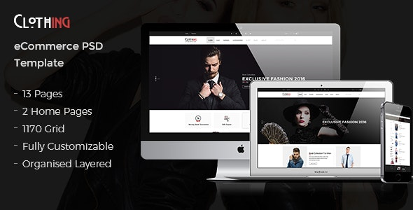 Clothing - eCommerce PSD Template - Fashion Retail
