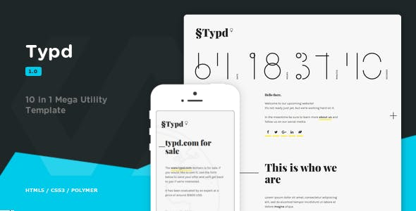 Utility Website Templates from ThemeForest