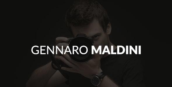 Gennaro Maldini Psd Template - Personal PSD Templates