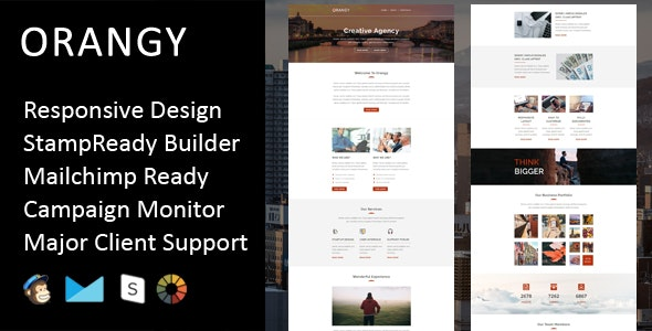Orangy - Multipurpose Responsive Email Template + Stampready Builder - Email Templates Marketing