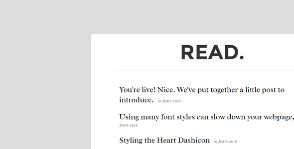 Read Personal Blogging Theme - Ghost Themes Blogging