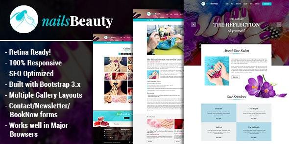 NailsBeauty - Nail, Spa and Beauty HTML Template - Health & Beauty Retail