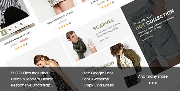 Anne - Multi-Purpose eCommerce PSD Template - Retail Photoshop