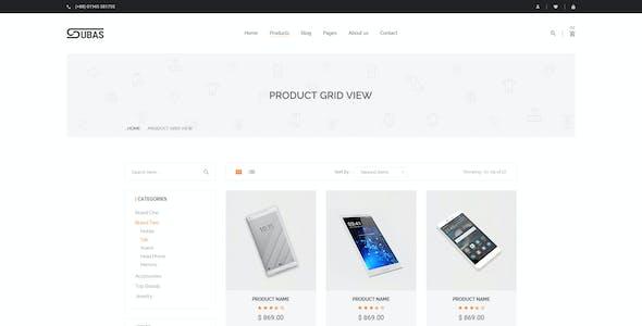 Subas - eCommerce PSD Template