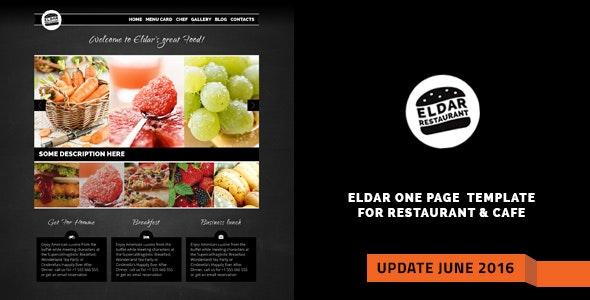 Eldar - Elegant Retina Restaurant & Cafe Template - Food Retail
