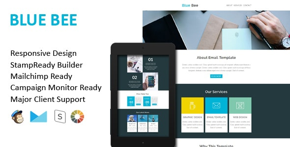 BLUE BEE - Multipurpose Responsive Email Template - Email Templates Marketing