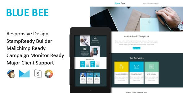 BLUE BEE - Multipurpose Responsive Email Template