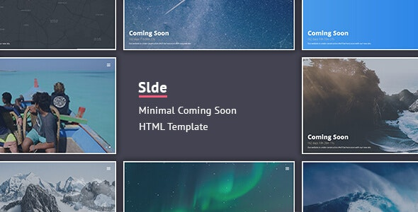 Slde - Minimal Coming Soon Template - Specialty Pages Site Templates