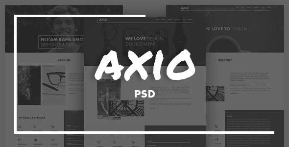 Axio | Agency and Portfolio PSD Template - Portfolio Creative