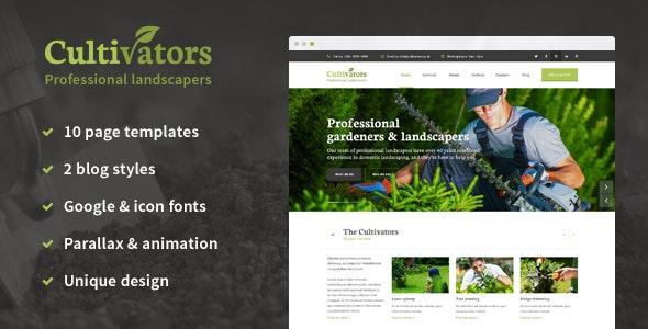 Cultivators - HTML Gardening Design - Business Corporate