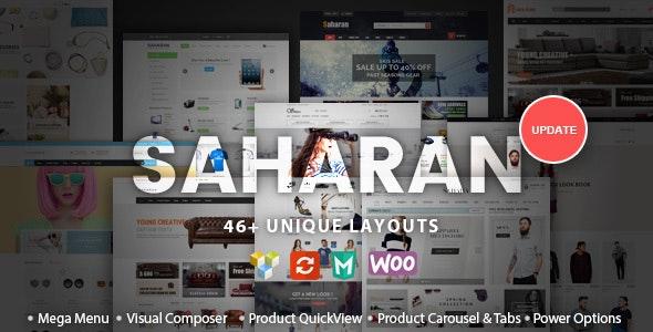 SAHARAN - Responsive WordPress Theme - WooCommerce eCommerce