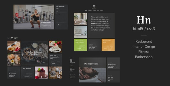 Hudson – Creative Responsive Retina-Ready HTML5 - Creative Site Templates