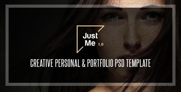 Just Me   Creative Personal & Portfolio PSD Template - Portfolio Creative
