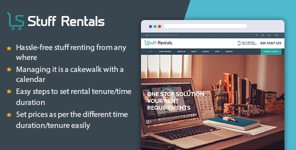 WP Stuff Rentals - Rent Out Anything - WooCommerce eCommerce