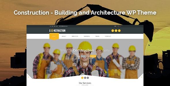 Construction - Building and Architecture WordPress Theme - Corporate WordPress