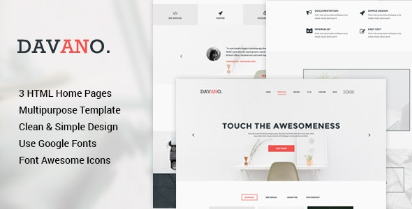 Davano - Multipurpose Corporate HTML Template - Corporate Site Templates