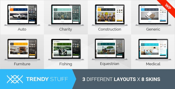 TrendyStuff - Multiconcept WordPress Theme - Business Corporate