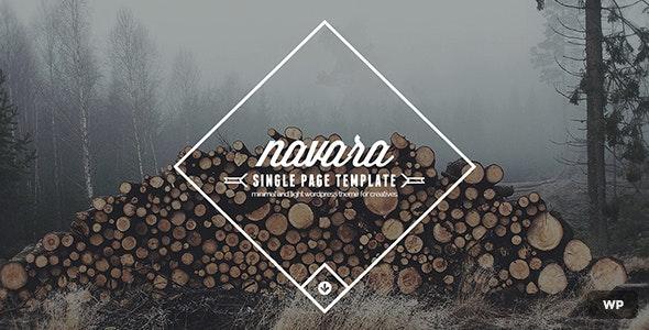 Navara - WordPress Single Page Theme - Creative WordPress