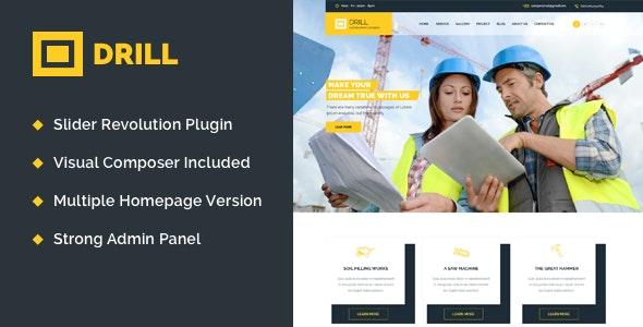 Drill - Construction & Building WordPress Theme - Business Corporate