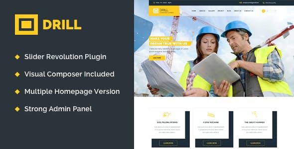 Drill - Construction & Building WordPress Theme