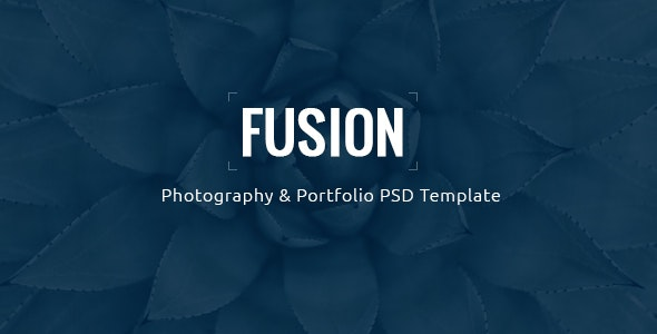 Fusion - Photography & Portfolio PSD Template - Creative PSD Templates