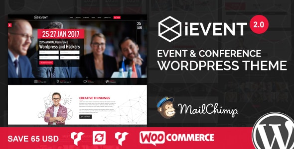 iEvent - Event & Conference WordPress Theme - Events Entertainment