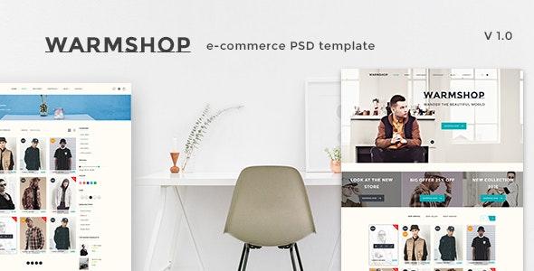 Warmshop - Minimal eCommerce PSD Template - Fashion Retail