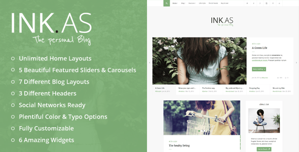 Inkas - The Personal Blog WP Theme - Personal Blog / Magazine