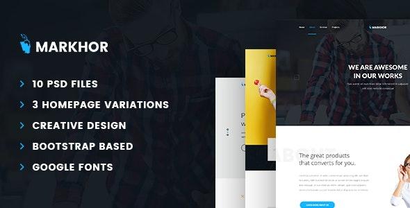 Markhor - Creative Multipurpose PSD Template - Business Corporate