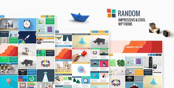 Random - Impressive & Cool WP Theme - Blog / Magazine WordPress