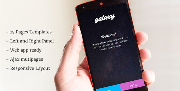 Galaxy - Mobile Template - Mobile Site Templates