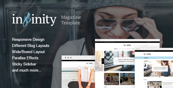 Infinity - Stylish & Modern Magazine HTML Template - Entertainment Site Templates