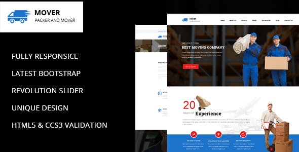Movers - Company HTML Template