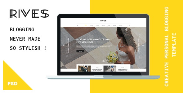 Rives - Creative personal Blogging Psd Template - Creative Photoshop
