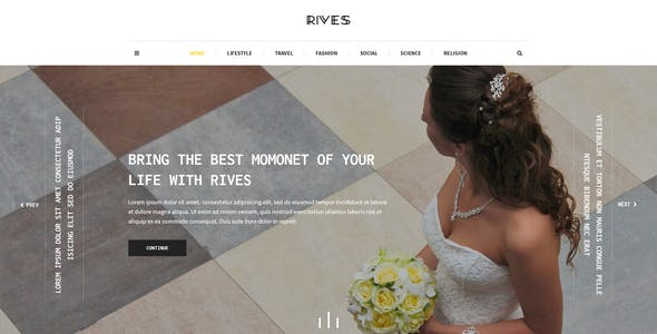 Rives - Creative personal Blogging Psd Template